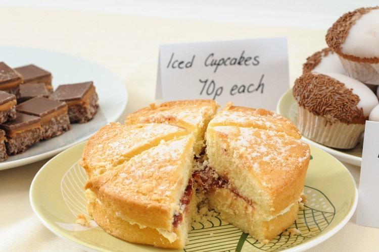 cakes on a cake stall