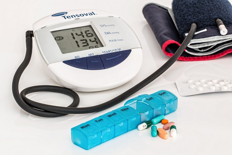 Tablets and blood pressure monitor