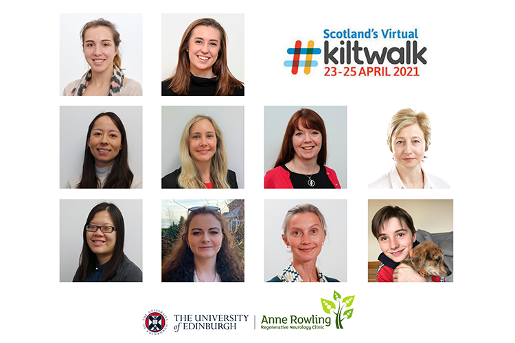 headshots of the staff team taking part in the kiltwalk