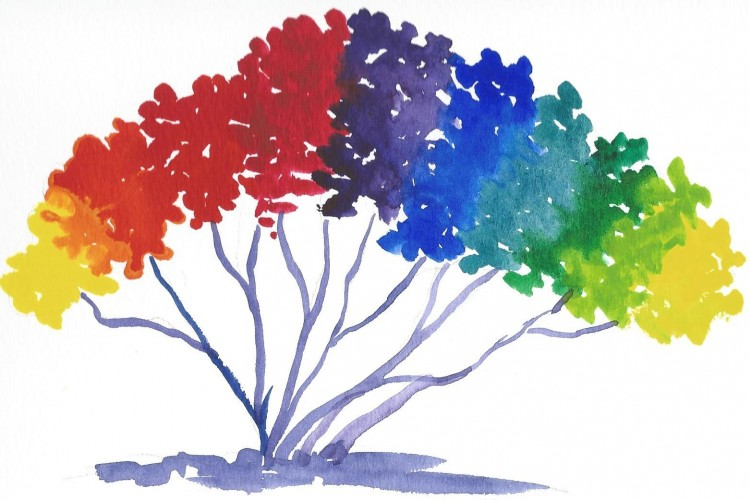 colourful image of a tree