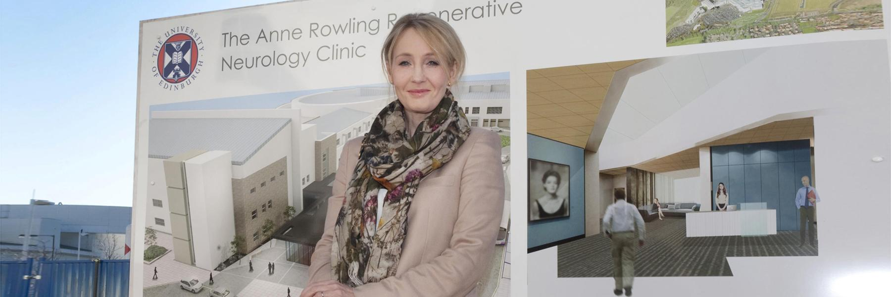 J.K. Rowling at the Clinic's founding ceremony